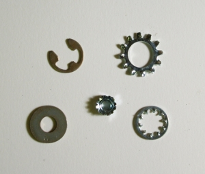 sprockets, washers