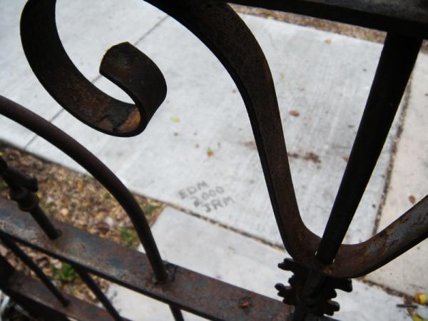 Boys signature in cement