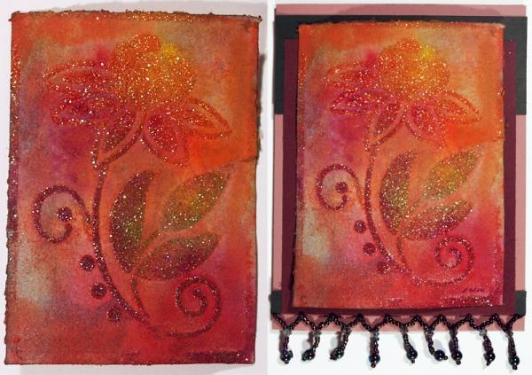Art Glitter - Dreamweaver Stencil - Acrylic Paint Design by Emily M. Miller