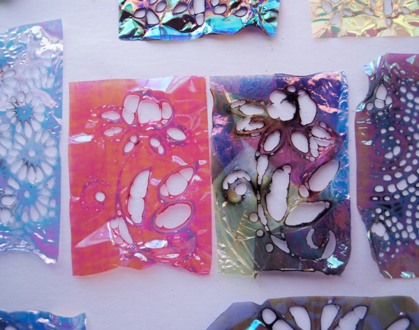 Dreamweaver Stencils and Art Glitter Fantasy Film Melting Technique