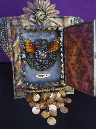 Altered Mexican Tin Shrine by Emily M. Miller